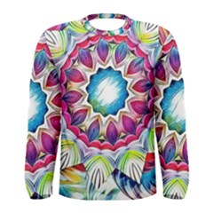 Sunshine Feeling Mandala Men s Long Sleeve Tee