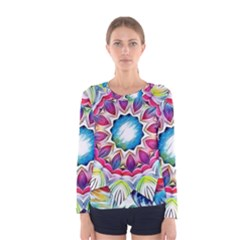 Sunshine Feeling Mandala Women s Long Sleeve Tee