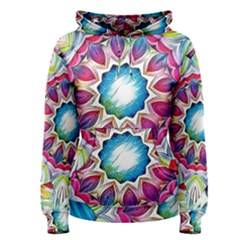 Sunshine Feeling Mandala Women s Pullover Hoodie by designworld65