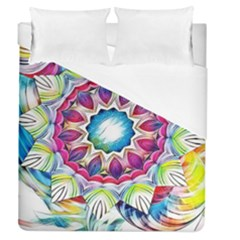 Sunshine Feeling Mandala Duvet Cover (queen Size)
