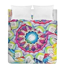 Sunshine Feeling Mandala Duvet Cover Double Side (full/ Double Size)