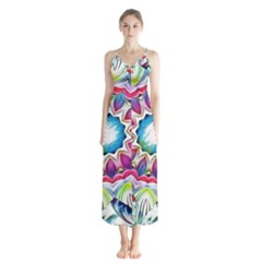 Sunshine Feeling Mandala Button Up Chiffon Maxi Dress