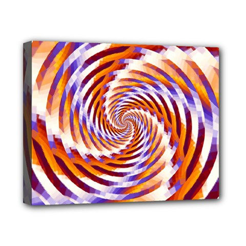 Woven Colorful Waves Canvas 10  X 8