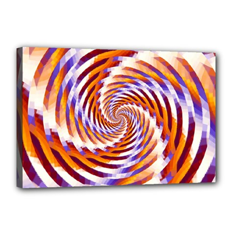 Woven Colorful Waves Canvas 18  X 12  by designworld65