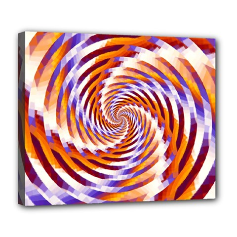 Woven Colorful Waves Deluxe Canvas 24  X 20   by designworld65