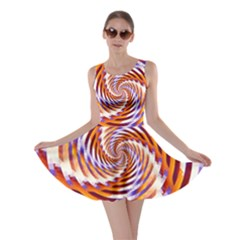 Woven Colorful Waves Skater Dress