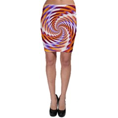 Woven Colorful Waves Bodycon Skirt