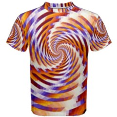 Woven Colorful Waves Men s Cotton Tee