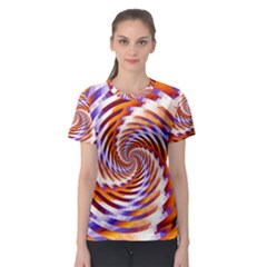 Woven Colorful Waves Women s Sport Mesh Tee