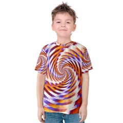 Woven Colorful Waves Kids  Cotton Tee
