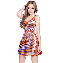 Woven Colorful Waves Reversible Sleeveless Dress