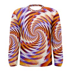 Woven Colorful Waves Men s Long Sleeve Tee by designworld65