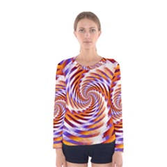 Woven Colorful Waves Women s Long Sleeve Tee