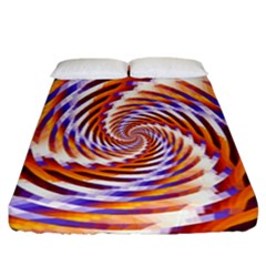 Woven Colorful Waves Fitted Sheet (california King Size) by designworld65