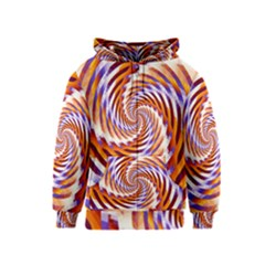 Woven Colorful Waves Kids  Zipper Hoodie