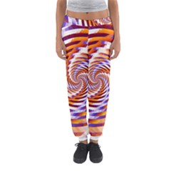 Woven Colorful Waves Women s Jogger Sweatpants