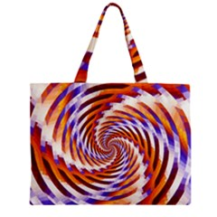 Woven Colorful Waves Zipper Mini Tote Bag