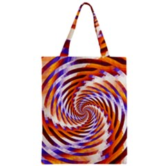 Woven Colorful Waves Zipper Classic Tote Bag