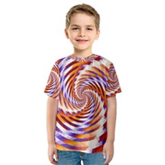 Woven Colorful Waves Kids  Sport Mesh Tee