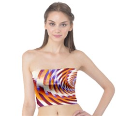 Woven Colorful Waves Tube Top