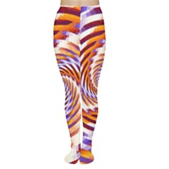 Woven Colorful Waves Women s Tights