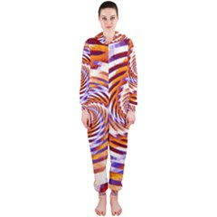Woven Colorful Waves Hooded Jumpsuit (ladies)