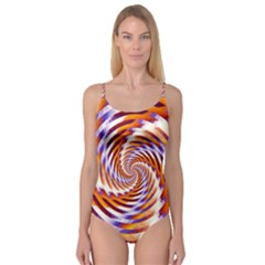 Woven Colorful Waves Camisole Leotard  by designworld65
