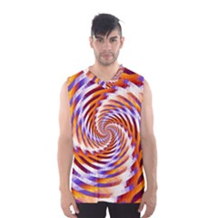 Woven Colorful Waves Men s Basketball Tank Top