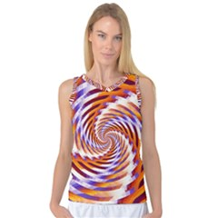 Woven Colorful Waves Women s Basketball Tank Top by designworld65