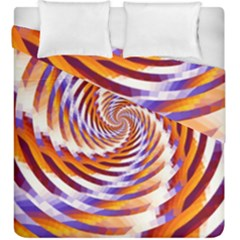 Woven Colorful Waves Duvet Cover Double Side (King Size)