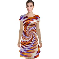 Woven Colorful Waves Cap Sleeve Nightdress