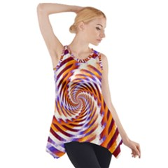 Woven Colorful Waves Side Drop Tank Tunic by designworld65