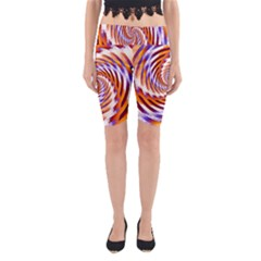 Woven Colorful Waves Yoga Cropped Leggings