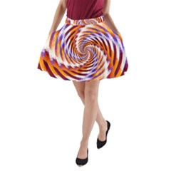 Woven Colorful Waves A-Line Pocket Skirt
