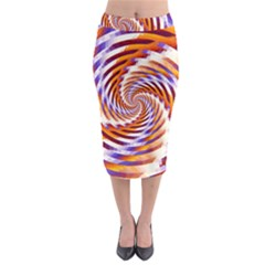 Woven Colorful Waves Midi Pencil Skirt