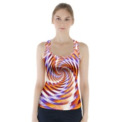 Woven Colorful Waves Racer Back Sports Top