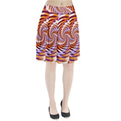 Woven Colorful Waves Pleated Skirt