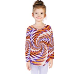 Woven Colorful Waves Kids  Long Sleeve Tee