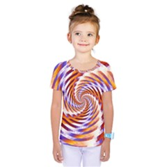 Woven Colorful Waves Kids  One Piece Tee