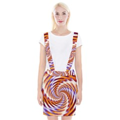 Woven Colorful Waves Braces Suspender Skirt