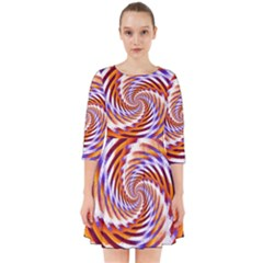 Woven Colorful Waves Smock Dress