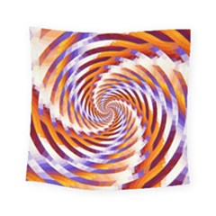 Woven Colorful Waves Square Tapestry (Small)