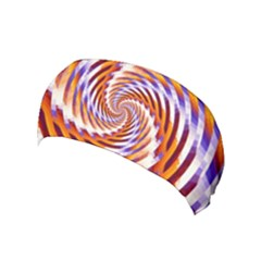 Woven Colorful Waves Yoga Headband by designworld65