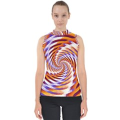 Woven Colorful Waves Shell Top