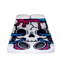Ice Cream Skull Fitted Sheet (full/ Double Size) by quirogaart