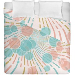 Bubbles Duvet Cover Double Side (king Size) by linceazul