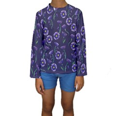 Floral Kids  Long Sleeve Swimwear by BubbSnugg