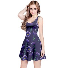 Floral Violet Purple Reversible Sleeveless Dress by BubbSnugg