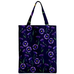 Floral Violet Purple Classic Tote Bag by BubbSnugg