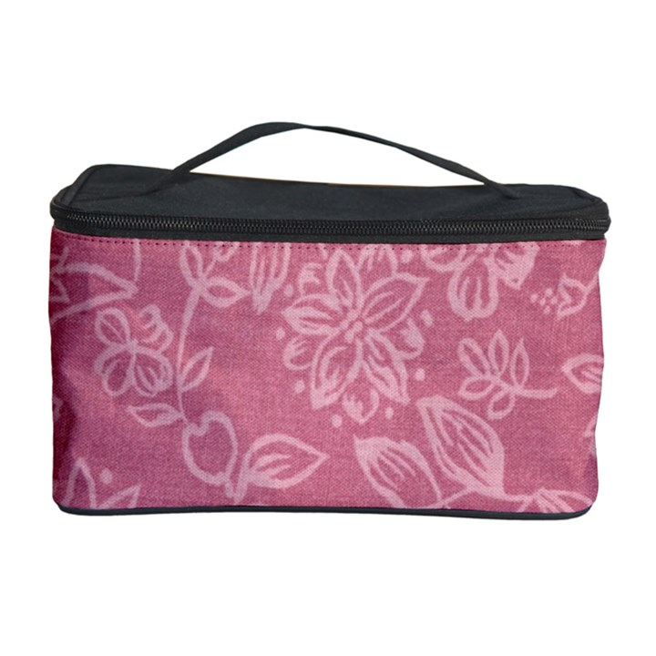 Floral Rose Flower Embroidery Pattern Cosmetic Storage Case